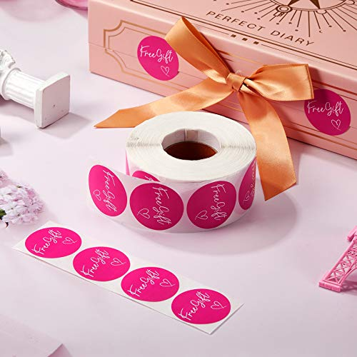 1000 Pieces Customer Appreciation Stickers Small Business Sticker Roll Round Self-Adhesive Stickers Labels for Packing Mailing Envelopes Postcards, 1.5 Inch (Pink Background) Photo #7