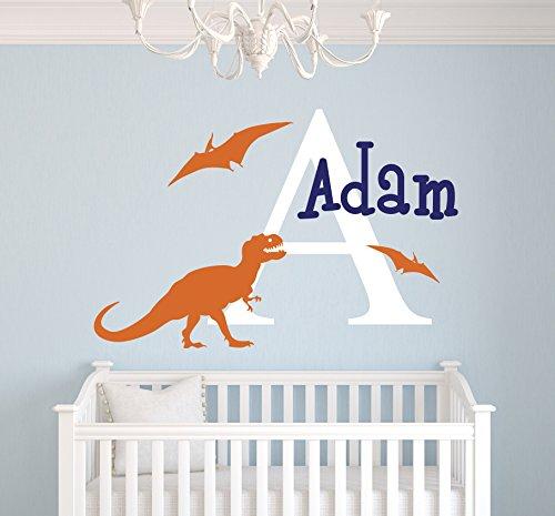 Dinosaurs Names Foot Print Nursery Wall Art Sticker Decal Transfer Bedroom Mural