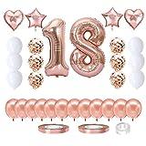 Cumpleaños Globos 2,Globo 2 años niña,Globo Numero 2 Gigantes,Set Globos Decoracion Bautizo Comunión Fiesta Cumpleaños Party,Feliz cumpleaños Decoración Globos 2 (18)