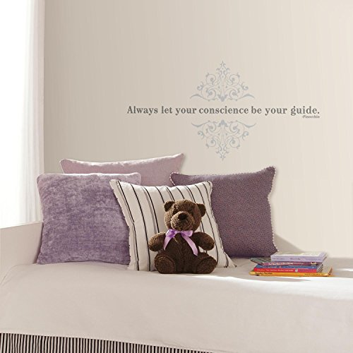 RoomMates Stickers phrase Pinocchio 'Always let your conscience be your guide' Disney