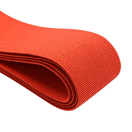 iCraft 2-Inch Wide by 2-Yard Colored Double-side Twill Elastic Band-Red 11030