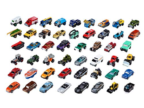 Matchbox 50 Car Pack Variety of Realistic Working Vehicles Instant Collection for Ages 3 and older, Multicolor