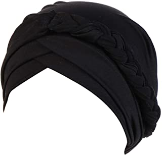 Swyss Islamic Prayer Turban Hats Muslim Turban Inclusive Cap Women Hijab Braids Caps Cancer Chemo Beanie Wrap Cap
