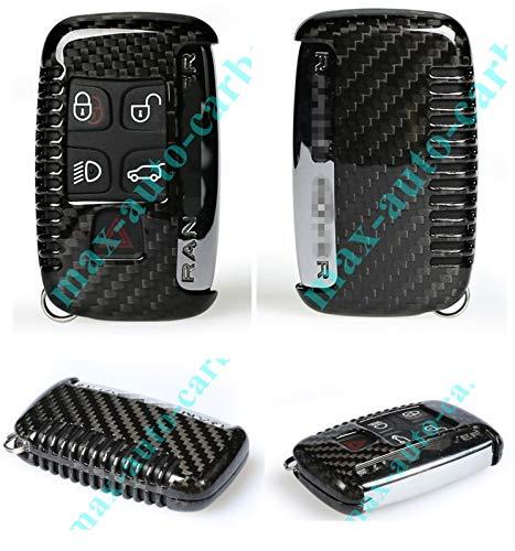 Max Auto Carbon ® VollCarbon Echt Carbon Schlüssel Hülle Etui passend für Jaguar XE XF F-Type E Pace F-Pace Range