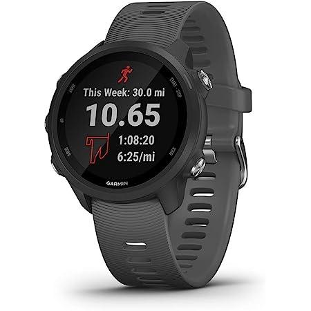 Garmin Forerunner 245, GPS Running Smartwatch with Advanced Dynamics, Slate Gray