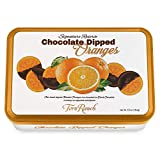 Chocolate Dipped Oranges Gift Tin l Embossed Tin l Whole Orange slices individually wrapped l Non-GMO l Kosher Dairy l Product of USA