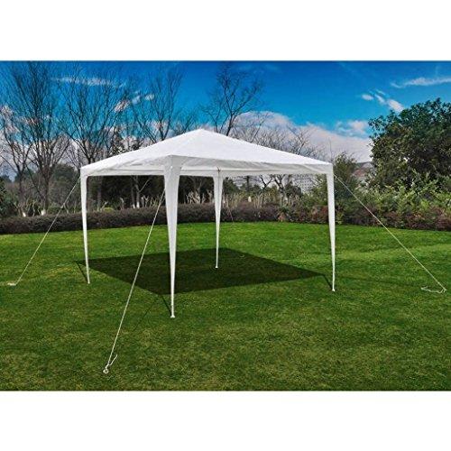 Tidyard Gartenpavillon Faltpavillon Partyzelt, Wasser- und Wetterfest, für Garten/Party/Hochzeit/Picknick, Wei?, 3 x 3 x 2,5 m(LxBxH)