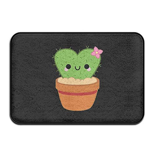 Klotr Tapis De Bain, Heart Cactus Cute Plants Door Mats Outdoor Mats