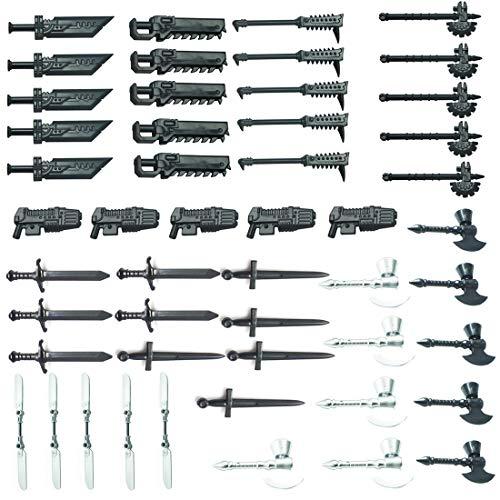 wangxike Juego de armas militares y accesorios para minifiguras de soldados SWAT Team policía compatible con Lego