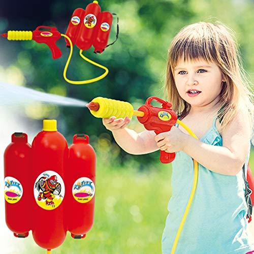 Stimo Wasserpistole mit Tankrucksack (2,5 L) Spritzpistole / Wasser Blaster für Kinder