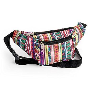 Glitter Effect Tribal Print Waist Bag Fanny Pack Money Bum Bag Hip Belt
