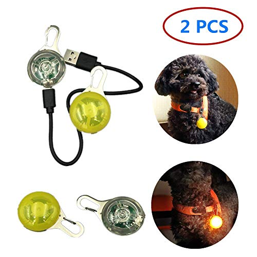 guangzhou LED Dog Collar Light,USB Rechargeable Pet Luminous Pendant, Carabiner Clip Dog Light, Outdoor Safety Anti-Lost Spherical Pendant,Reuse(2 PCS)
