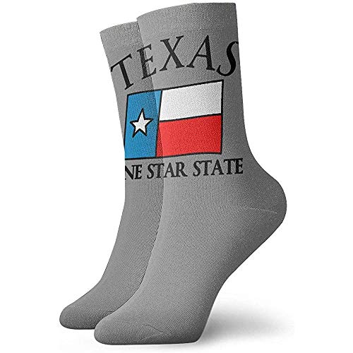 Be-ryl Texas Lone Star State Socks Chaussettes Crew Adult Chaussettes Colorfu