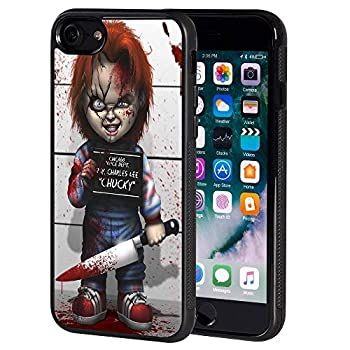 Cool Halloween Design Scary Doll Horror Pattern Soft TPU for iPhone 8 / iPhone 7 4.7 Inch - Black