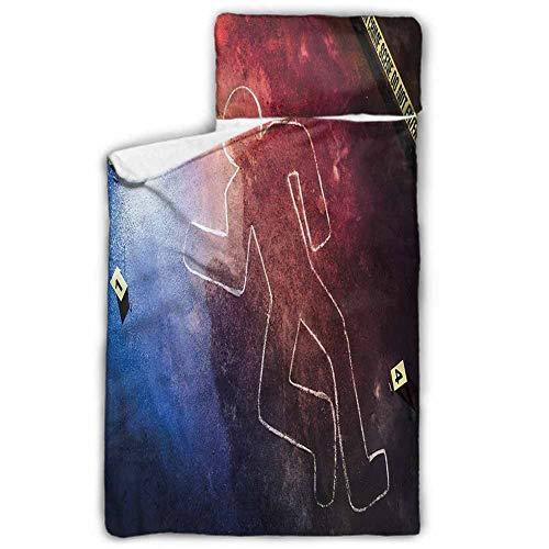 Andrea Sam Toy Newborn Soft Sleeping mat Murder Scene,Chalk Outline Evidence Children Sleeping Mats