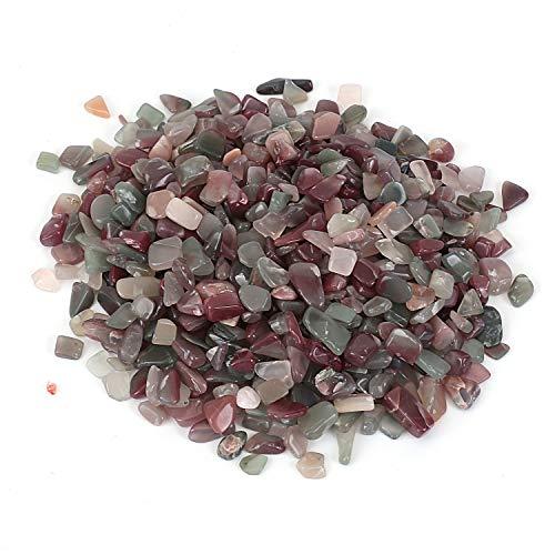 Shiny Stone Pierres décoratives en cristal pour aquarium, gravier de poisson, pierres décoratives pour bricolage, maison, jardin, plantes grasses (onyx violet vert, 5–7 mm)