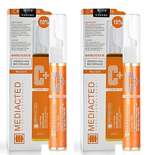 2 stuks Instant Blemish Removal Gel Vitamine C, VC Serum voor Gezicht, Blemish Cream voor Donkere Vlekken, Reparatie Vervagen Sproeten Verwijderen Donkere Vlekken Gezichtscrème