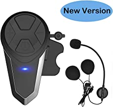THOKWOK Motorcycle Bluetooth Headset,BT-S3 1000m Helmet Headphones for Snowmobile..