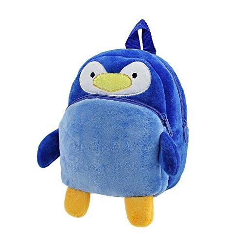 Sac à Dos Enfant Jouet en Peluche Bébé Cartoon Cartable Pingouin Adorable Bleu Backpack Mini-Cadeau Pour Primaire Maternelle Petit Fille Garçon