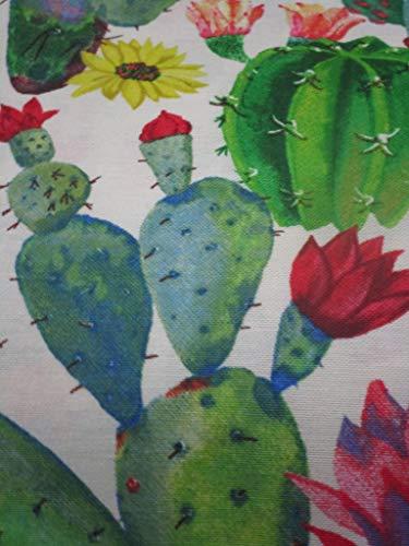 Pago Poco Mehrzweck-Tagesdecke, Motiv: Kaktus, 100 % Baumwolle, Maße: 140 x 300 cm, hergestellt in Italien, Neuheit 2020!!! !