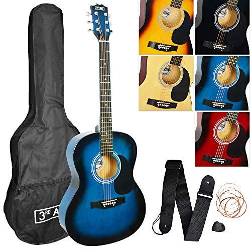 petit un compact Set de guitare acoustique 3rd Avenue – Blueburst