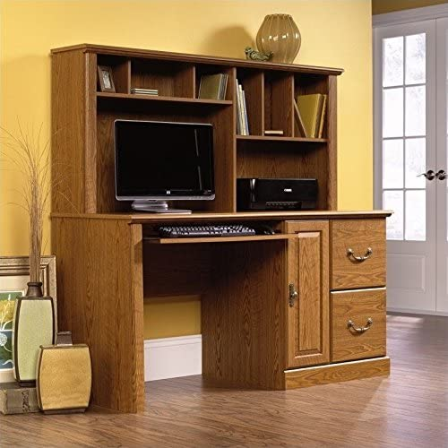 Attention brand Scranton Co Wood Computer Desk Oak in Carolina Hutch All items free shipping with