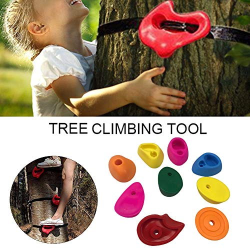 Rock Climbing Holds, 10pcs/Set Rock Climbing Holds for Children,Wall Climbing Stones, Play Tower for Kids Climbing Frame, Tree House, Rock Hold Grab Stones Grip Climbing Kit