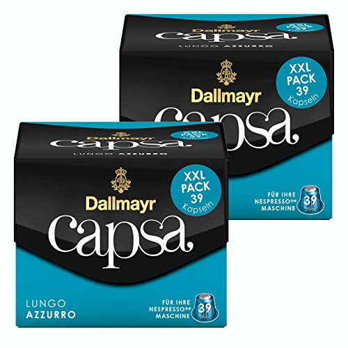 Dallmayr Capsa Lungo Azzurro XXL Nespresso Kompatibel Kapsel, Röstkaffee, Kaffee, 78 Kapseln á 5.6 g