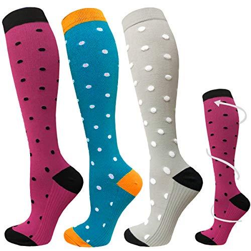 ACTINPUT Calcetines de compresión para Mujeres y Hombres 20-25 mmHg es el Mejor atlético, Correr,Escalar Montaña,Vuelo, Viajes, Enfermeras, Edema