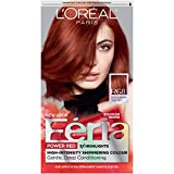 L'Oreal Paris Feria Multi-Faceted Shimmering Permanent Hair Color, R68 Ruby Rush (Rich Auburn True Red), Pack of 1, Hair Dye