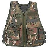 Alomejor Gilet Tactique pour Enfants Gilet de Camouflage pour Enfants avec Gilet de Combat...