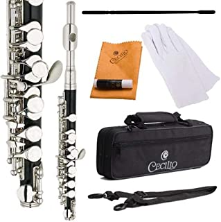 Cecilio PO-280N Key of C Resin Piccolo with Nickel Plated Keys - Black