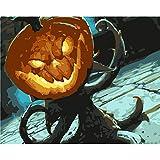 Nonebranded Pintura Digital De Bricolaje por Kits De Números - Linterna De Calabaza De Halloween - para Adultos Principiantes Niños