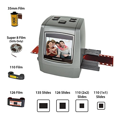 Magnasonic All-in-One High Resolution 22MP Film Scanner, Converts 35mm/126KPK/110/Super 8 Films,...