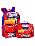 Disney Cars Jackson & Lightning McQueen 16' Backpack With Lunch Box-2 Piece Set