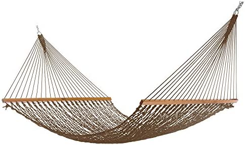Nags Head Hammocks NH14MOC Extra Wide Mocha Duracord Rope Hammock with Free Extension Chains product image