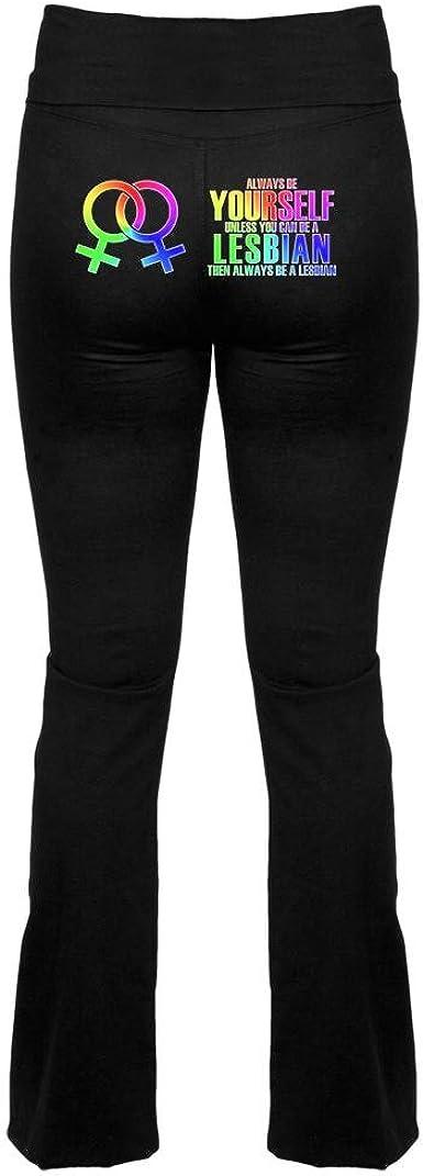 Black lesbians in yoga pants Old Glory Always Be Yourself Lesbian Yoga Pants Black X Sm Amazon Co Uk Clothing