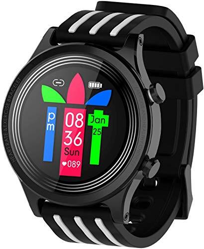 WQWQ Smartwatch, Farbdisplay 1,3-Zoll-Touch, Blutdruck intelligente Uhren, IP67 wasserdicht Sport mit Blutsauerstoffmonitor Pedometer Schlafmonitor, Stoppuhr Frauen Männer (schwarz) sehen,XXL
