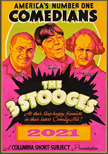 カレンダー 2020 [12 pages 20x30cm] 3 Stooges Comedy Film Vintage レトロ映画 ポスター