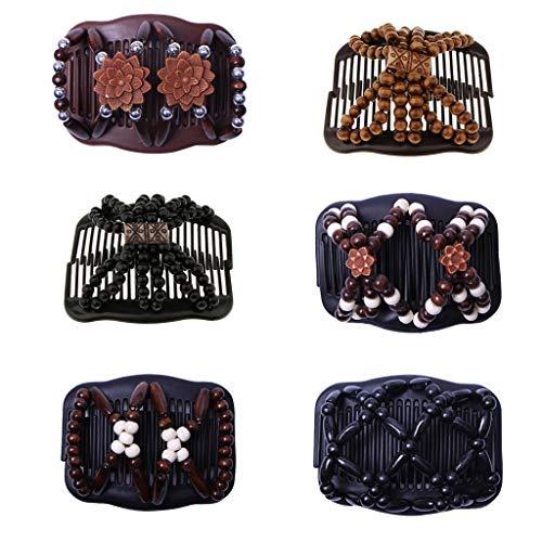 Baoblaze 6pcs Peigne Magique Pince à Cheveux Pour Femmes