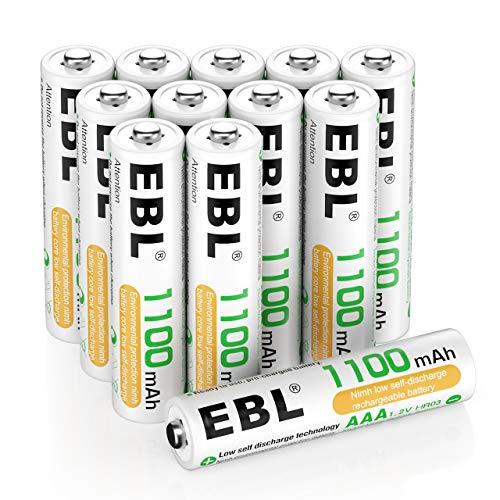 EBL Akku AAA 1100mAh wiederaufladbare Micro AAA Batterien Typ NiMH 12 Stücke, 1,2V AAA Batterie