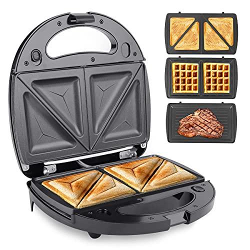 Sandwich Toaster, Gimify 3-in-1 Sandwich Toastie Maker Waffle Maker Panini...