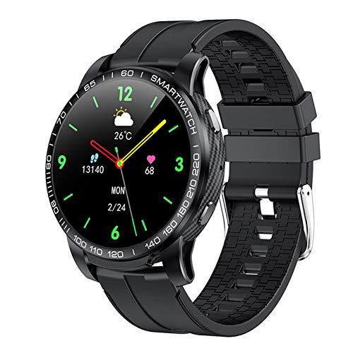 HQPCAHL Smartwatch, Reloj Inteligente Impermeable IP67 con Monitor De Sueño Pulsómetros Cronómetros, Pulsera De Actividad Inteligente para Hombre Mujer Niños con iOS Y Android,Negro