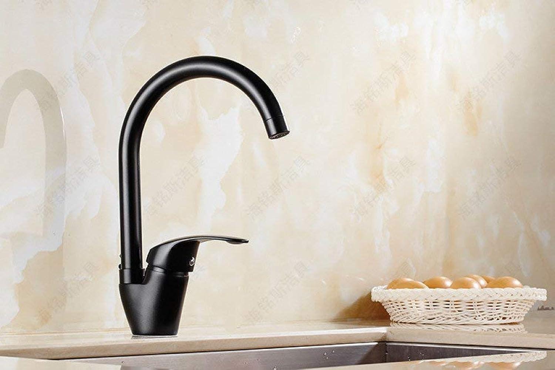 GONGFF Waschbecken Wasserhahn Küchenbarren Wasserhahn Spüle Spüle heien und kalten Wasserhahn mit Duscharmatur