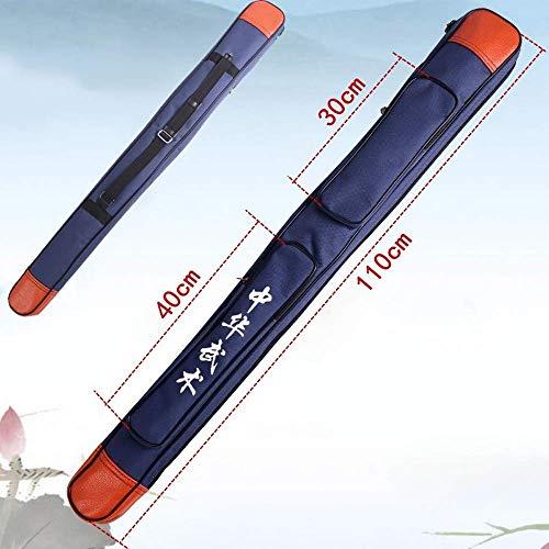 AQWESD Bolsa De Espada, Bolsa De Transporte De Hombro De Lona Gruesa Multifunción De Una Capa Y Doble Capa Paquete De Almacenamiento De Espada De Artes Marciales Chinas, Azul, Rojo, Negro