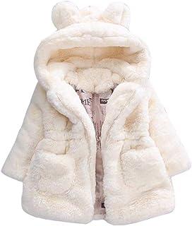 VENMO Bebe, Niños Bebé Invierno Abrigos niñas Lana Chaqueta con Capucha cálido Gruesa Capa Abrigo Ropa Bebé por Venmo