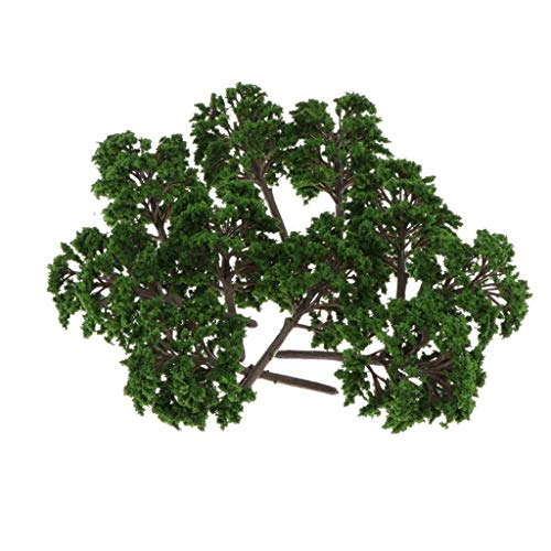 chiwanji 10pcs Model Trees, Scenery Model Artificial Layout Rainforest Diorama, Building Model Trees Cake Topper, Model Train Railways Architecture Landscape - A, as described