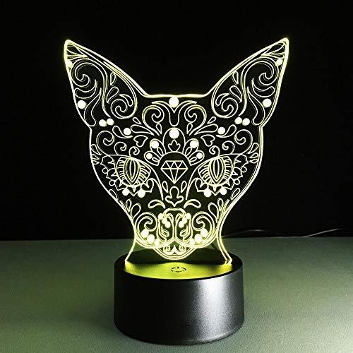 Elemento de moda decoración del hogar creativo lindo gato luz de noche LED junto a la cama luz de control de sensor multicolor pequeña lámpara de mesa LED, luz táctil inteligente