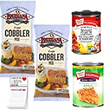 Louisiana Cobbler Mix Pack of 2 | Duncan Hines Peach Pie Filling | Apple Pie Filling for Cobbler | Snack Fun Shopping Pad Louisiana Fruit Cobbler Mix 10.58 oz Pack of 2. Great with Pie Filling 3 Easy Steps Duncan Hines Wilderness Simply Peach Pie Fil...
