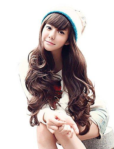 Perruque Cheveux longs bouclés synthétiques ondulés naturels